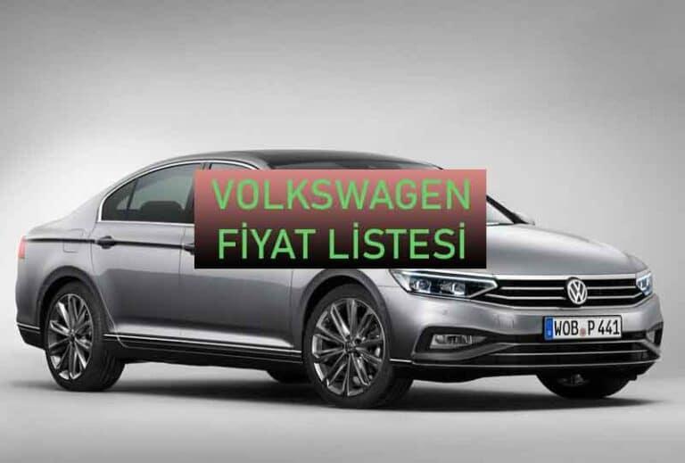 Volkswagen Fiyat Listesi 2021 - Bilgi Sebili